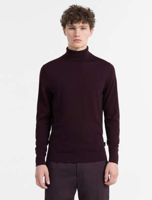 Calvin Klein slim fit superior wool turtleneck sweater
