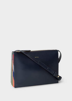 Paul Smith Women's Navy 'Concertina Swirl' Leather Cross-Body Bag