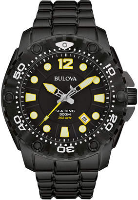 Bulova 50mm Sea King Men's Bracelet Watch, Black