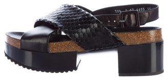 Robert Clergerie Python Slingback Sandals $225 thestylecure.com