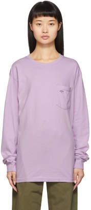 Noah NYC Purple Pocket Long Sleeve T-Shirt