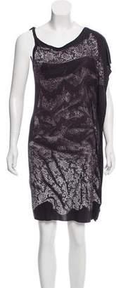 AllSaints Lace Print Knit Dress