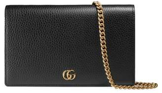 Gucci Petite Marmont Leather Wallet on a Chain