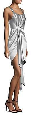 Fleur Du Mal Women's Asymmetrical Cascade Cocktail Dress - Size 0