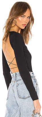 Alexander Wang Criss Cross Back Strap Bodysuit