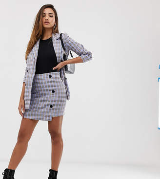 Missguided co-ord mini skirt in blue check