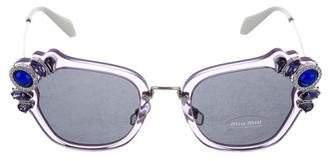 Miu Miu Embellished Tinted Sunglasses w/ Tags
