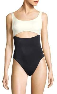 Solid and Striped X Swim Team One-Piece Natasha Swimsuit