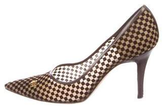 Louis Vuitton Damier Mesh Pumps