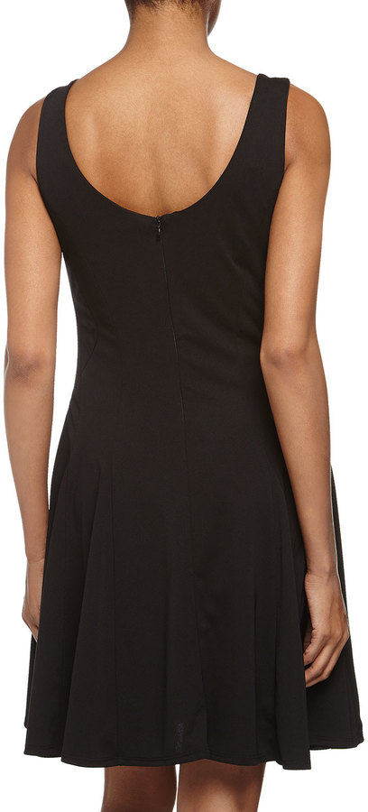 Romeo & Juliet Couture Sleeveless Pleated Poplin Dress, Black