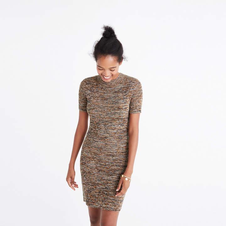 Marled Slim Mockneck Sweater-Dress