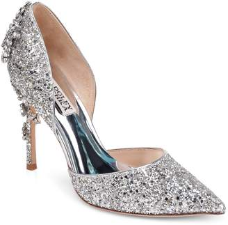 Badgley Mischka Vogue III Glitter Pumps