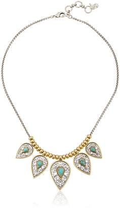 Lucky Brand Etched Turquoise Collar Necklace