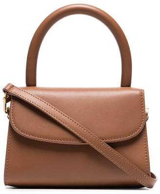 BY FAR brown Mini leather cross body bag