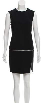 Alexander McQueen Zip Accented Mini Dress
