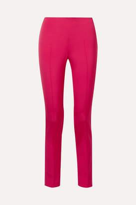 Akris Melissa Stretch-mulberry Silk Slim-leg Pants - Bright pink