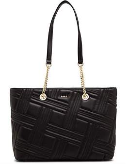 DKNY Allen-Md Chain Tote-Crossgrid