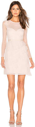 BCBGMAXAZRIA Pleated Tulle Mini Dress