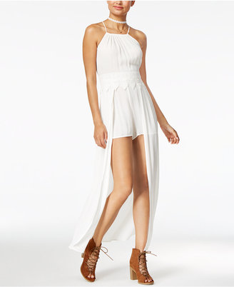 American Rag Juniors' Maxi-Overlay Romper, Only at Macy's $69.50 thestylecure.com