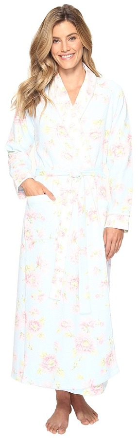 Carole HochmanCarole Hochman Floral Diamond Quilt Robe