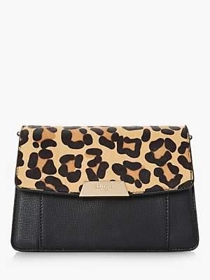 Dune Eadaa Faux Leather Clutch Bag, Leopard Print