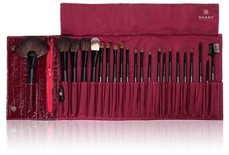 NY Collection Shany Cosmetics Pro Brush Kit Purple Faux Crocodile Case 13 Ounce