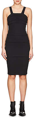 Helmut Lang Women's Cotton Multi-Layered Fitted Dress - Black