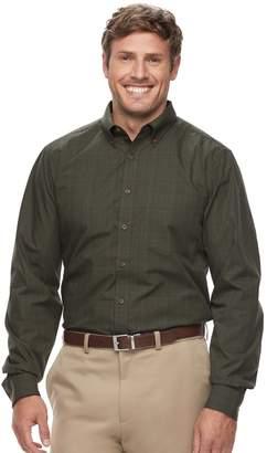 Haggar Big & Tall Weekender Classic-Fit Woven Button-Down Shirt