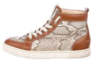 Christian Louboutin Rantus Orlato Snakeskin Sneakers