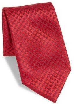 Charvet Small Houndstooth Silk Tie