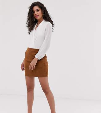 Vero Moda Tall faux suede mini skirt