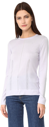 Salvatore Ferragamo Pointelle Crew Neck Sweater $830 thestylecure.com