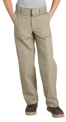 Dickies Boys' Classic Fit Uniform Straight Leg Flat Front Pants (Husky Boys)