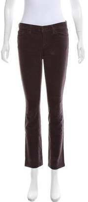 J Brand Corduroy Mid-Rise Straight-Leg Jeans