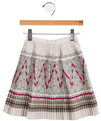 Lili Gaufrette Girls' Pleated Abstract Skirt