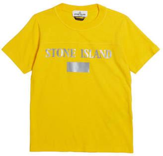 Stone Island Reflective Logo Tee, Size 2-6