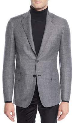 Brioni Men's Wool Two-Button Check Jacket