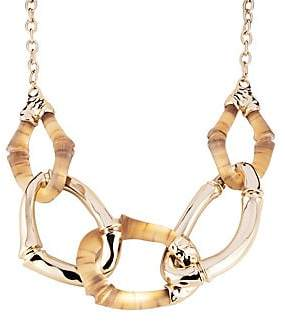 5e0f3e5bfc Alexis Bittar 10K Gold & Rhodium-Plated Lucite Bamboo Link Necklace