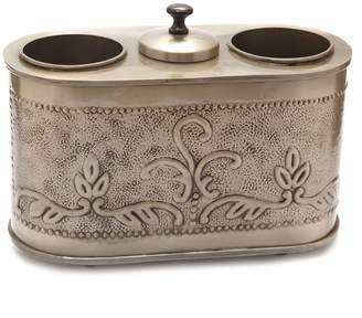 """Old Dutch Antique Embossed """"Victoria"""" Two Bottle Wine Chiller"""