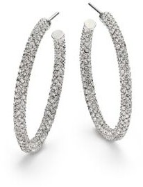 Adriana Orsini Pavé Crystal Hoop Earrings/1.25""