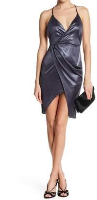 Lush Overlap Shiny Party-Dress