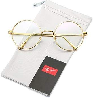 clear Pro Acme Retro Round Metal Frame Lens Glasses Non-Prescription