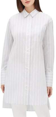 Lafayette 148 New York Marivin Striped Button-Down Oversized Boyfriend Shirt