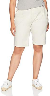 "Caribbean Joe Women's Plus Size 11"" Clean Poplin Short"