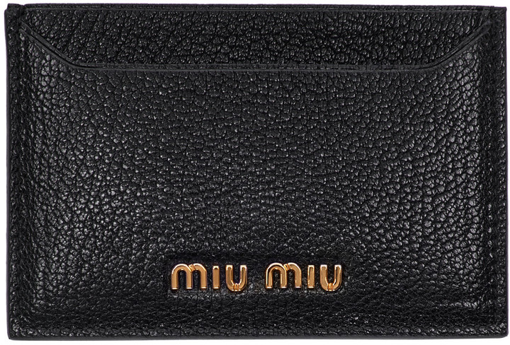 Miu Miu Miu Miu Black Logo Card Holder
