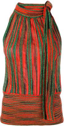 Missoni striped glitter halter top