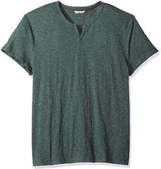 Calvin Klein Men's Short Sleeve T-Shirt Slit Neck Feeder Stripe