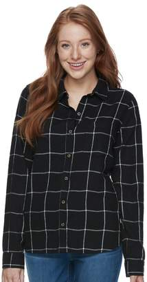 So Juniors' SO Pocket Plaid Flannel Shirt