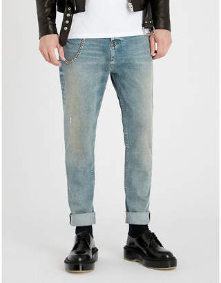 The Kooples Chain-embellished slim-fit skinny jeans