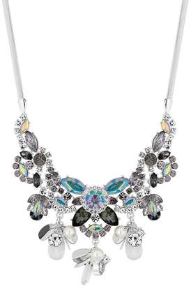 Red Herring Multi Colour Crystal Floral Statement Necklace